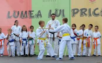 Kids learning Martial arts